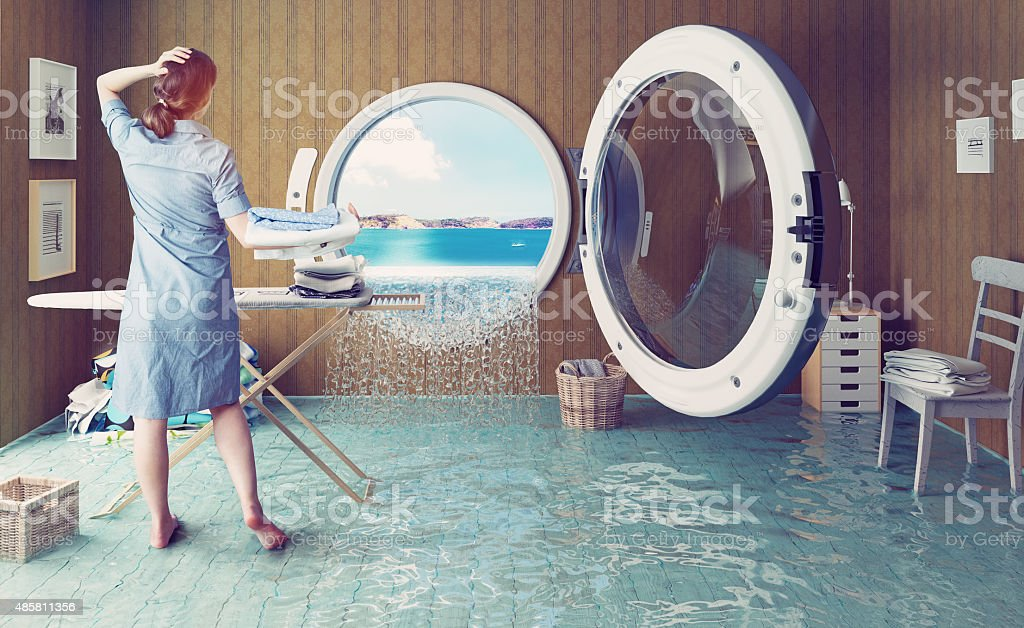 Housewife`s dreams stock photo