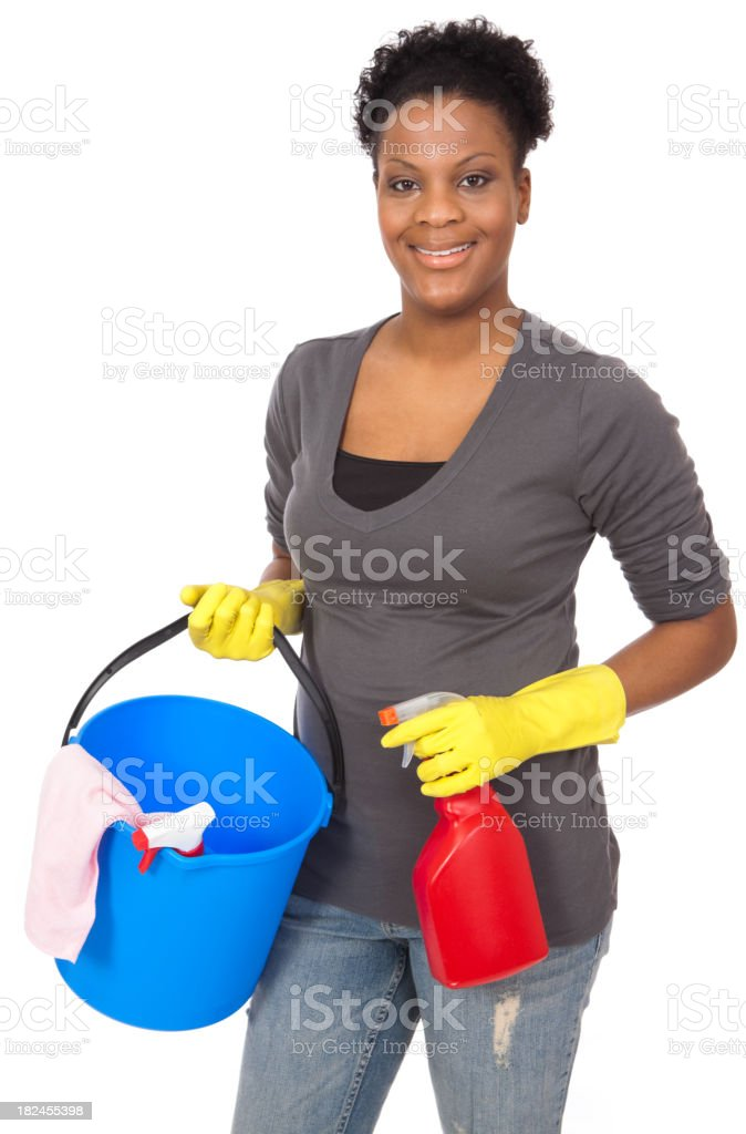 Housework - Cleaning Up royalty-free stock photo