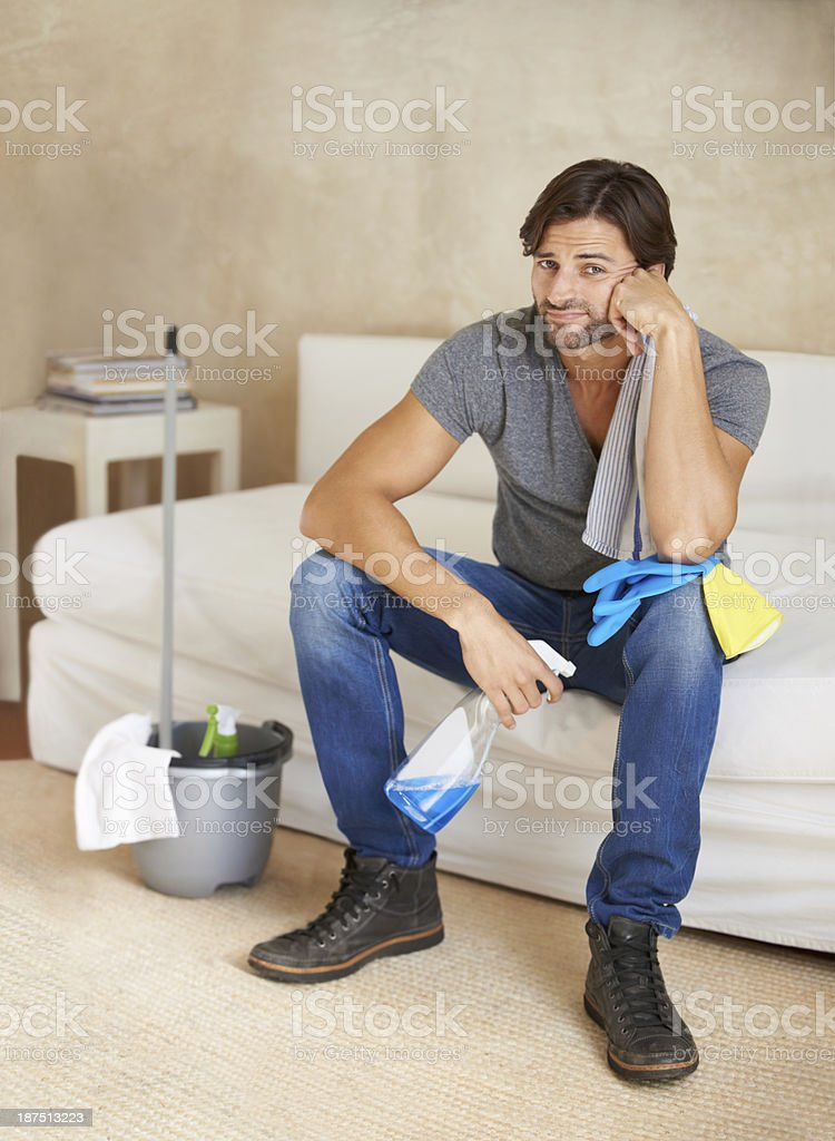 Housework takes time and patience royalty-free stock photo