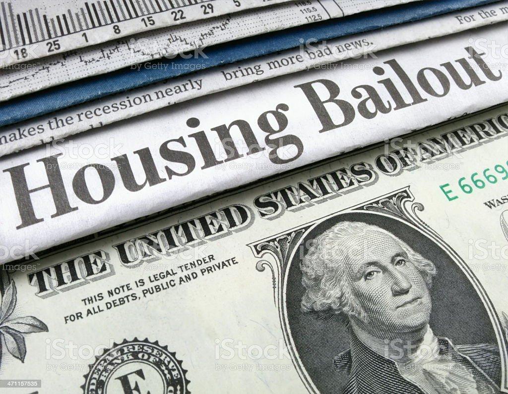 Housing Bailout Headline stock photo