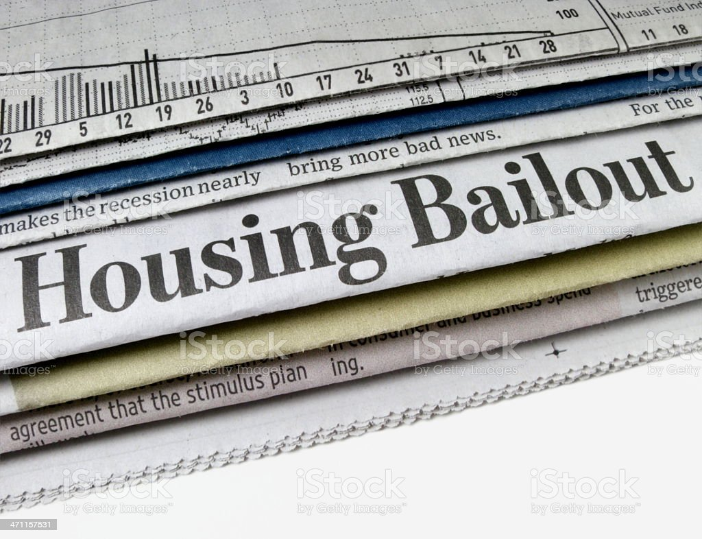 Housing Bailout stock photo