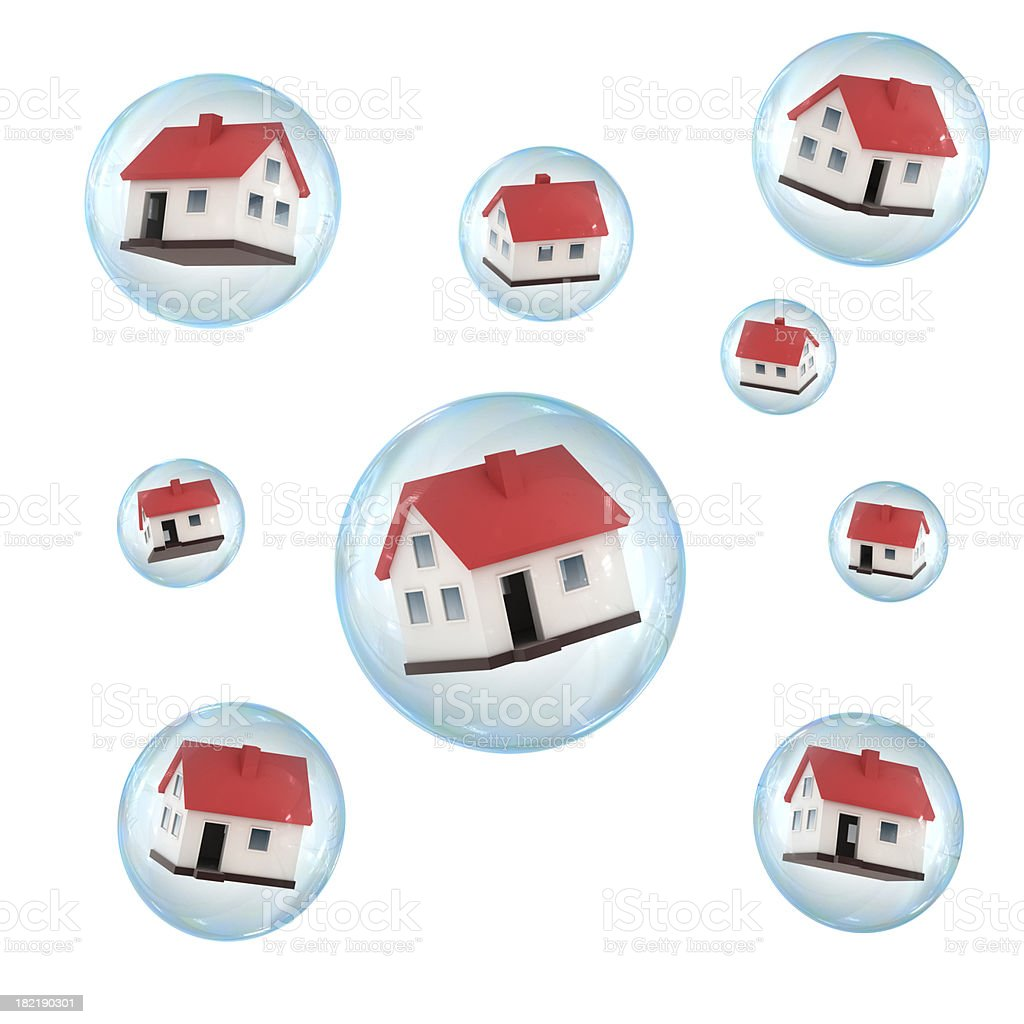 Housing bubble royalty-free stock photo