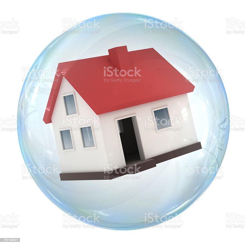 Housing bubble royalty-free stock photo
