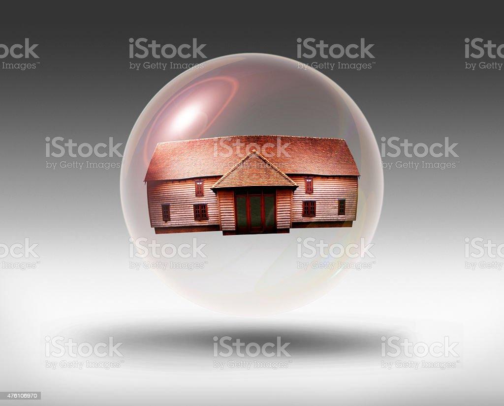 Housing Bubble stock photo
