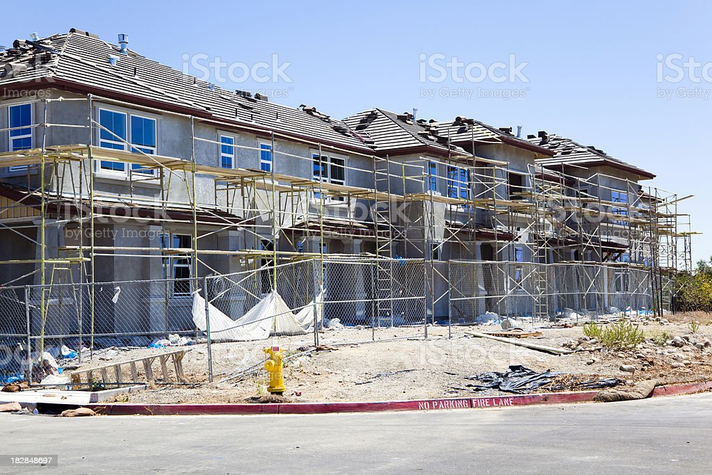 Housing Complex Under Construction stock photo