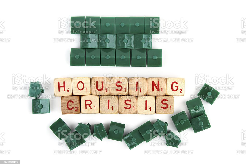 Housing crisis business concept royalty-free stock photo