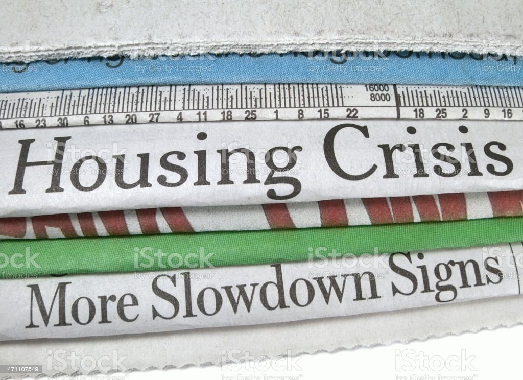 Housing Crisis royalty-free stock photo