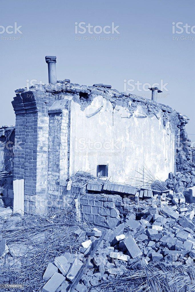 housing demolition materials royalty-free stock photo