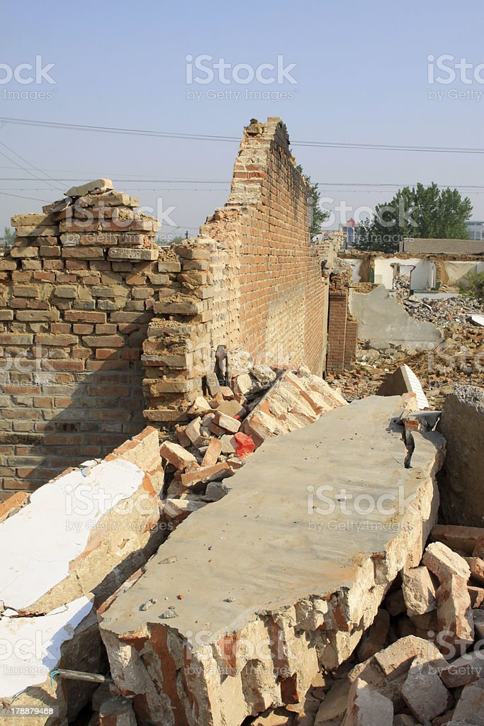 housing demolition materials royalty-free stock photo