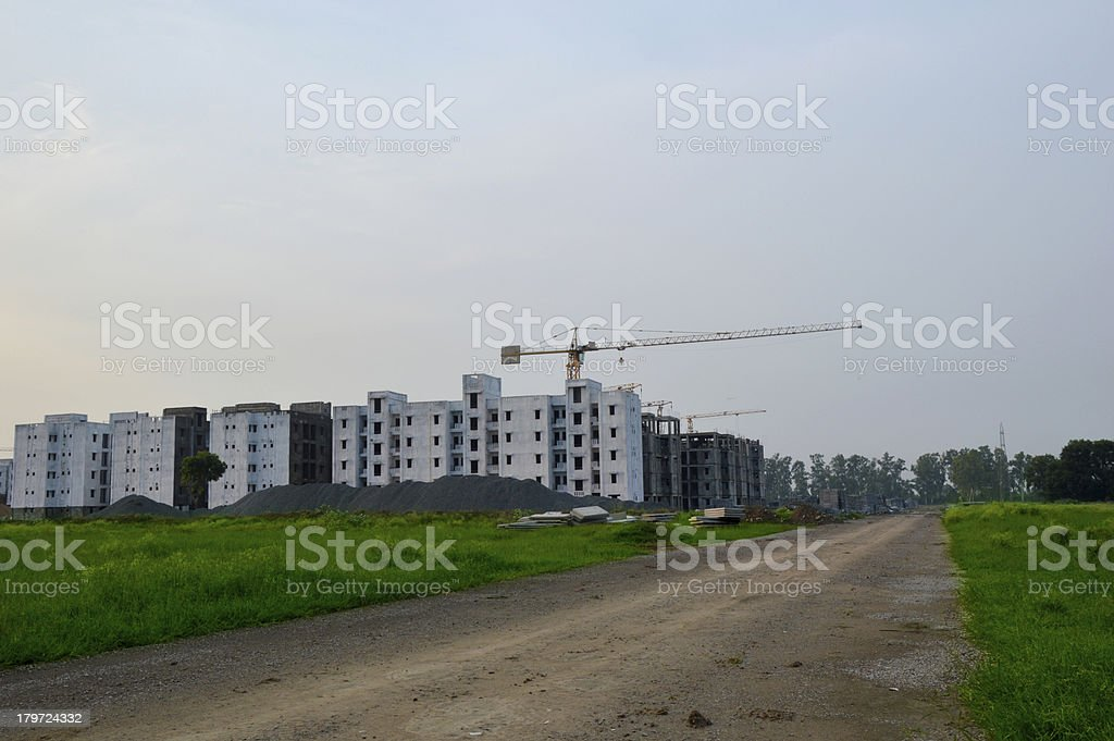 Housing Developing Project Perspective View royalty-free stock photo