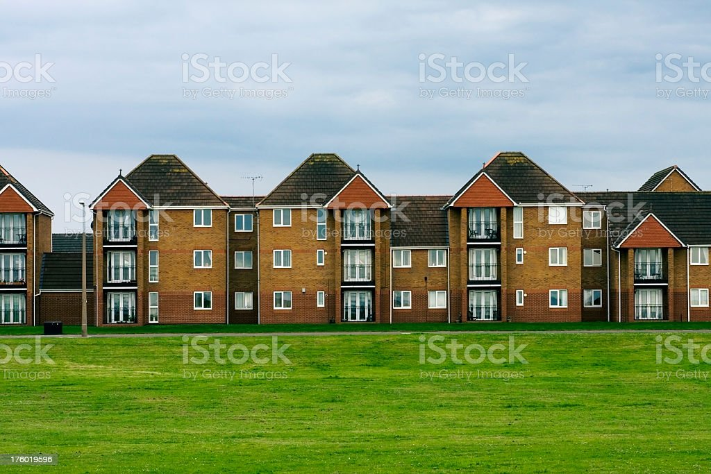 Housing development, apartment blocks royalty-free stock photo