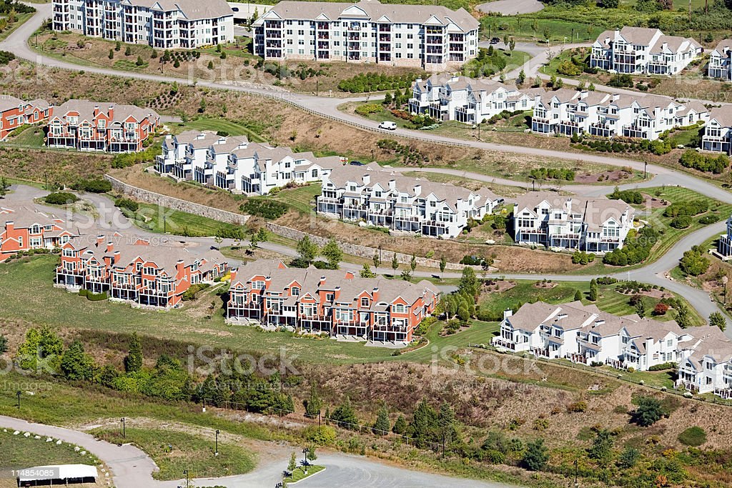 Housing development, Newport County, Rhode Island, USA stock photo