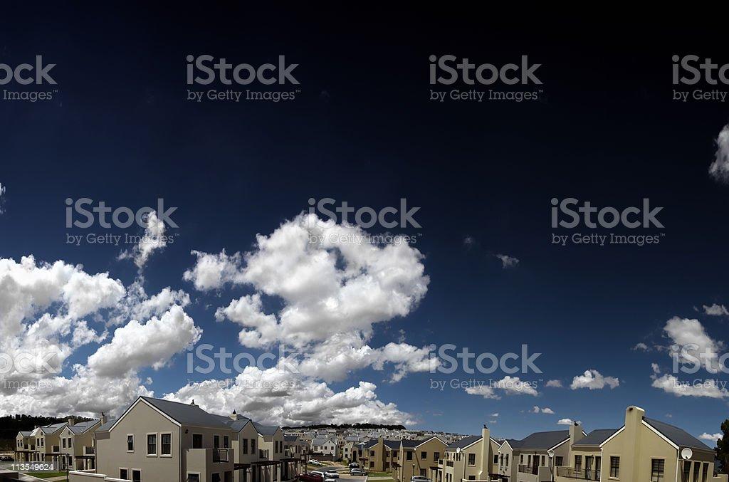 Housing development  V royalty-free stock photo