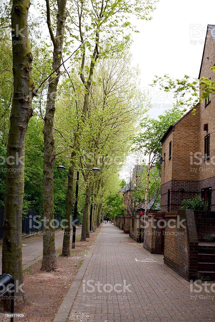 housing estate in London royalty-free stock photo