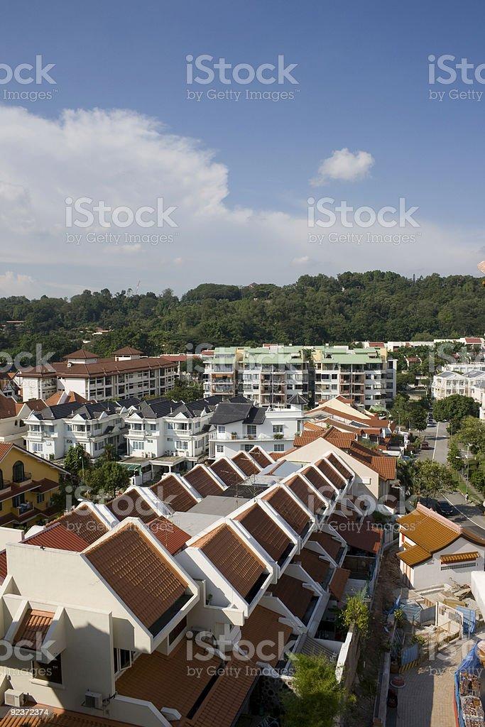 Housing estate stock photo