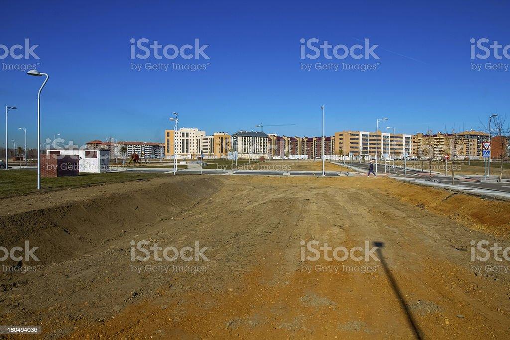 Housing Estate under Construction - Urbanizacion en Contruccion stock photo