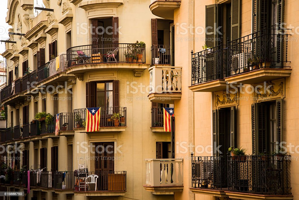 Housing in Barcelona stock photo