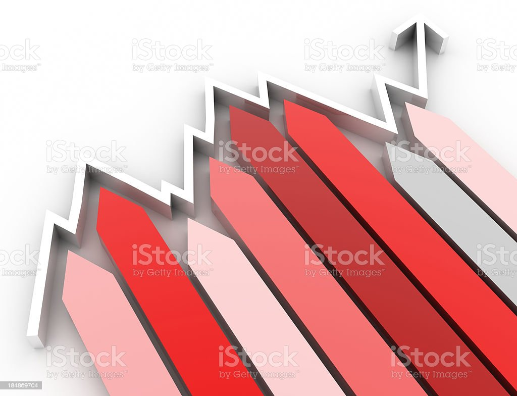 Housing market graph royalty-free stock photo