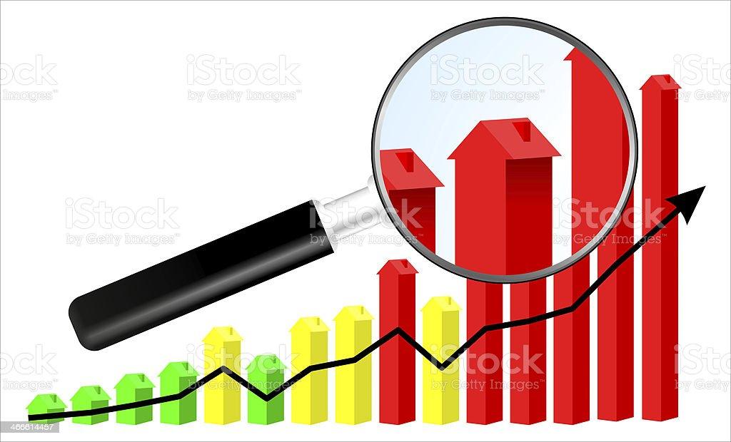 Housing market illustration stock photo