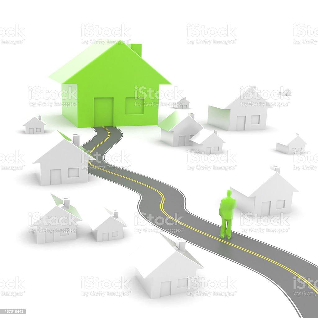 Housing market: my choice royalty-free stock photo