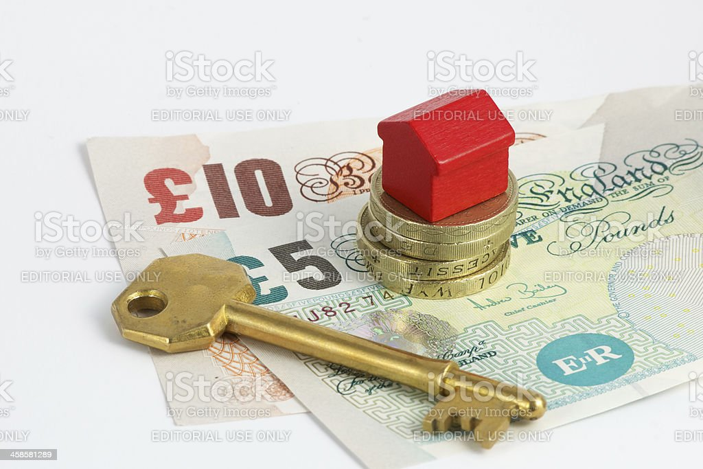 Housing money royalty-free stock photo