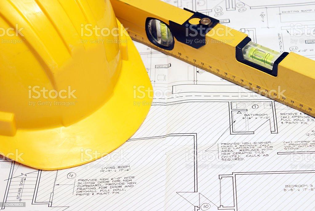 Housing Plans stock photo