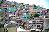 Housing stacked Port-Au-Prince, Haiti.