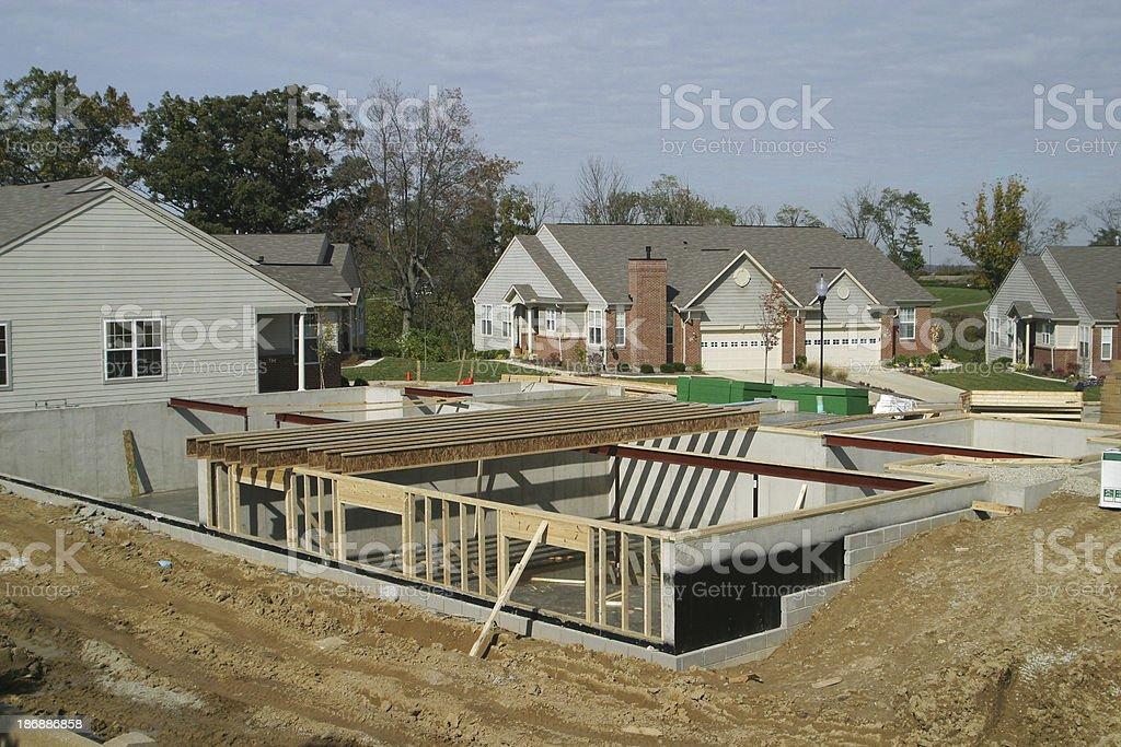 Housing Starts. basement. Construction. royalty-free stock photo