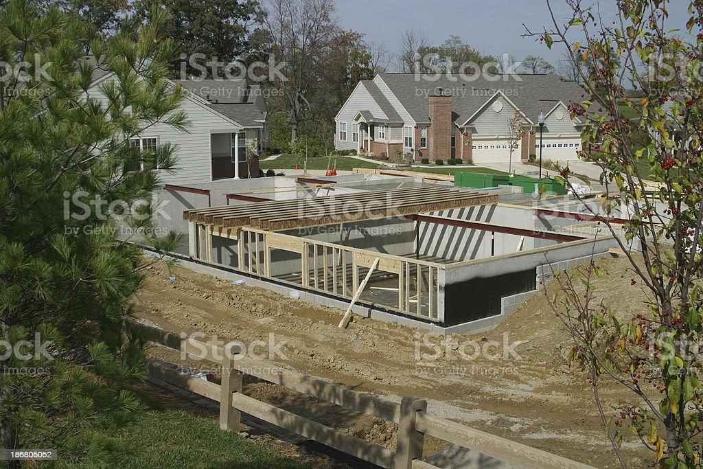 Housing Starts - New Neighbors royalty-free stock photo