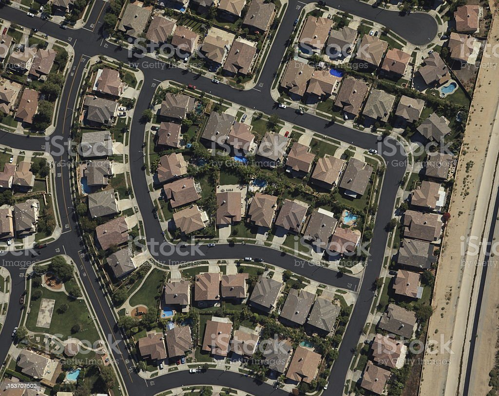 Housing Tract royalty-free stock photo