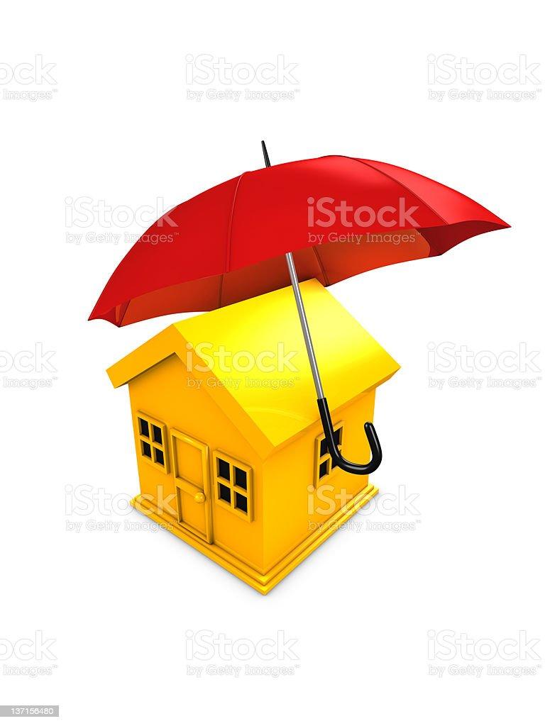 Housing umbrella royalty-free stock photo