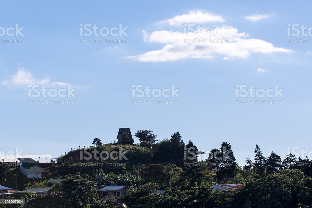 Housings on the Costa Rica countryside stock photo