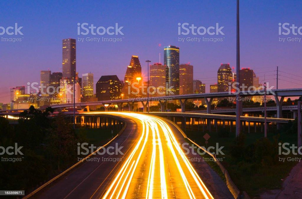 Houston at dawn stock photo