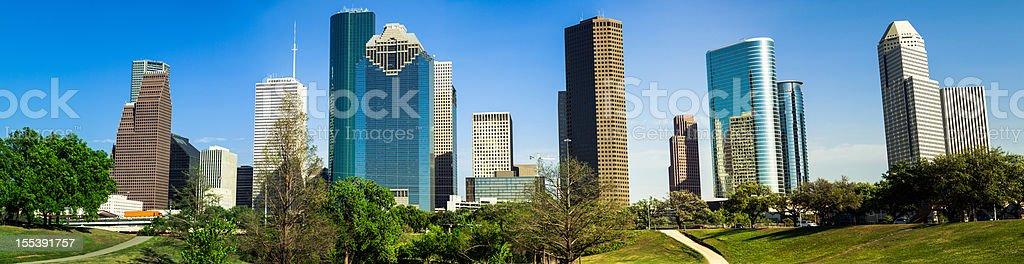 Houston downtown panorama stock photo