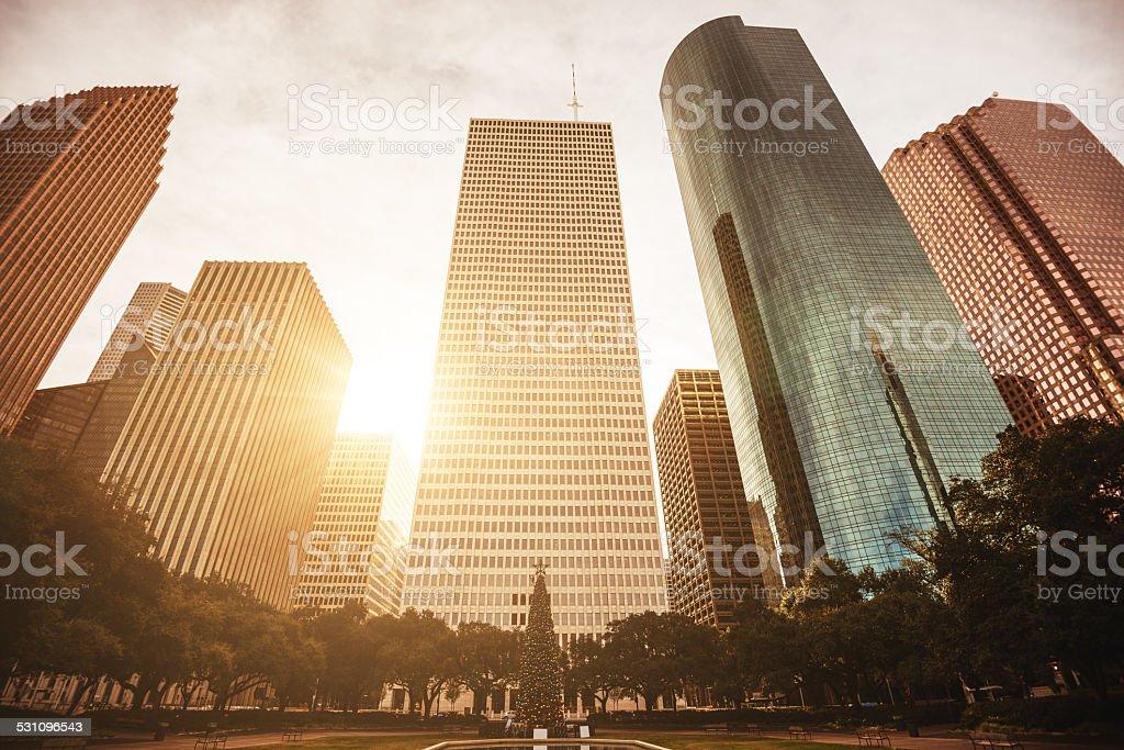 Houston downtown stock photo
