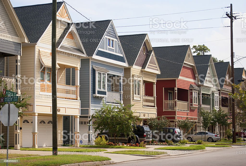 Houston Heights stock photo