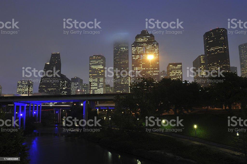 Houston in Fog royalty-free stock photo