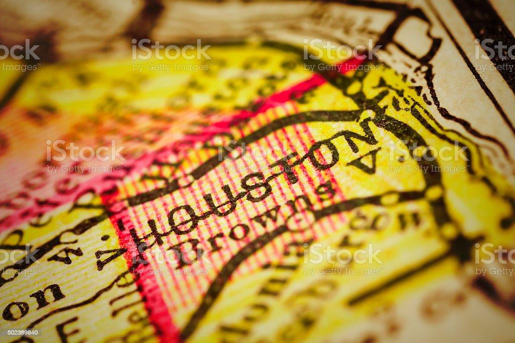Houston   Minnesota County maps stock photo