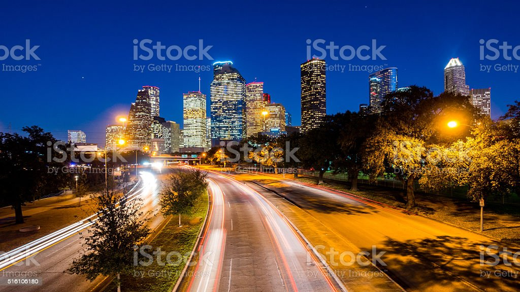 Houston Skyline stock photo