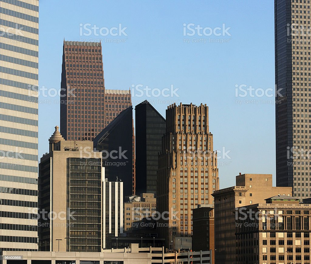 Houston Skyscrapers royalty-free stock photo