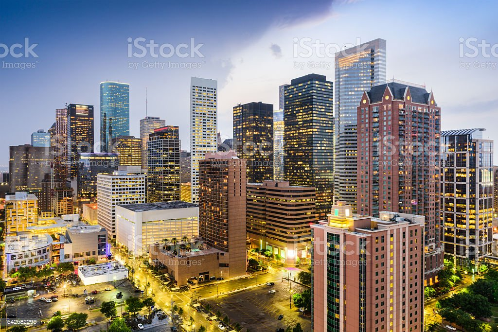 Houston Texas Cityscape stock photo
