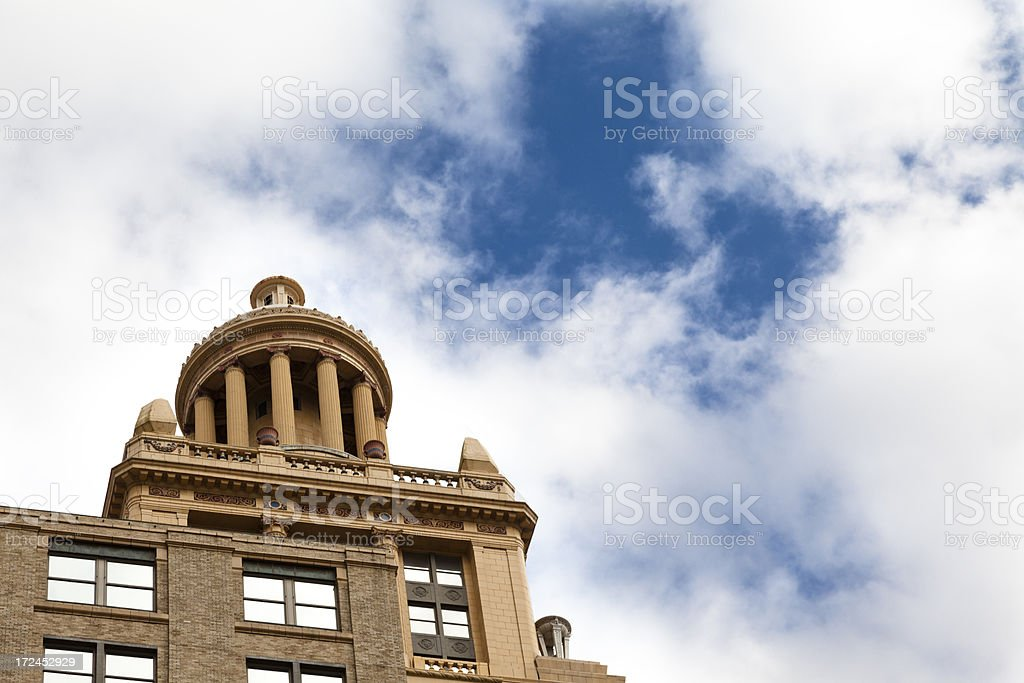 Houston, Texas:  Skyline of tall building in downtown district royalty-free stock photo