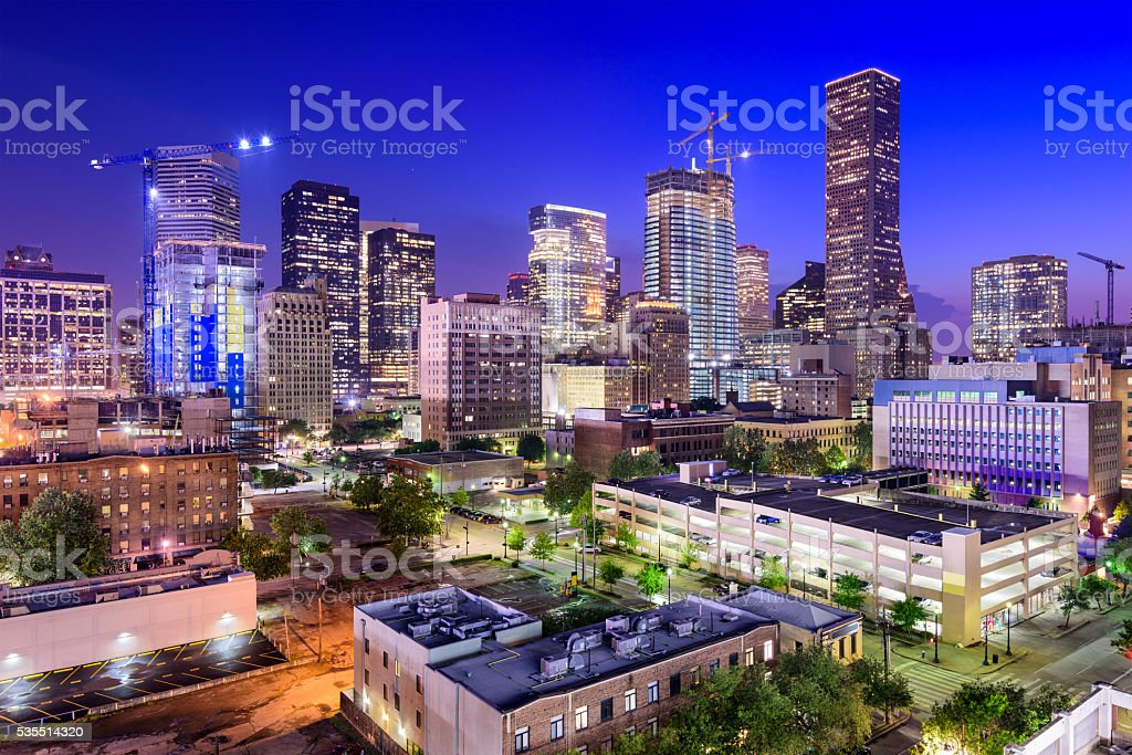 Houston Texas Skyline stock photo