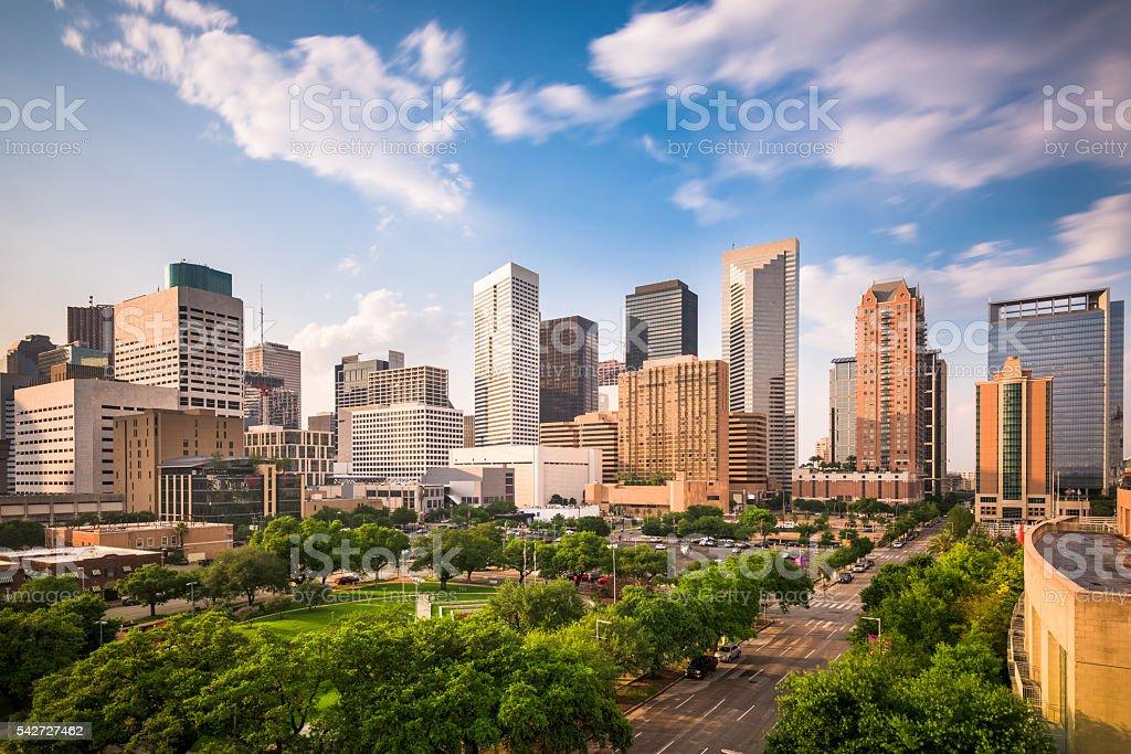 テキサス州ヒューストンの街並み ストックフォト