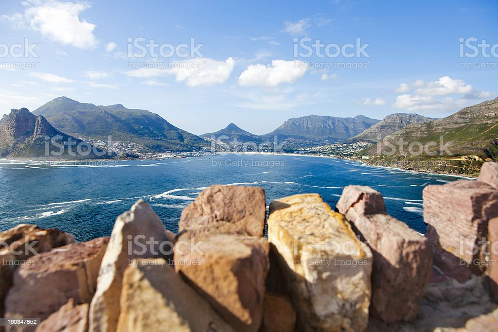 Hout Bay from Chapman's Peak, Cape Town stock photo