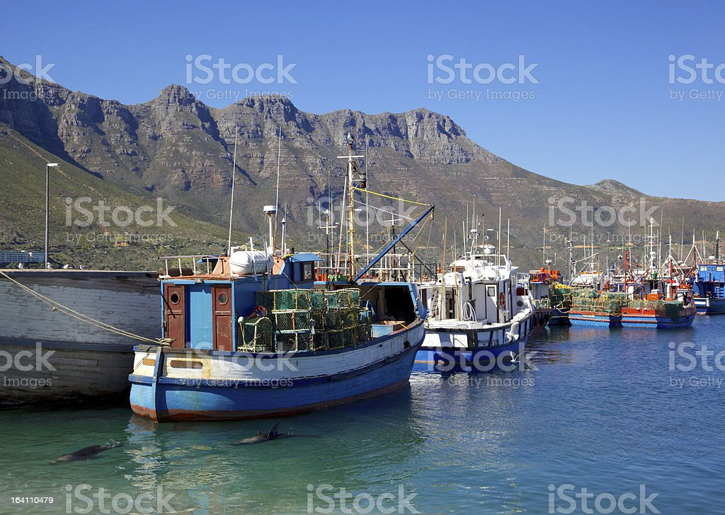 Hout Bay Harbour stock photo