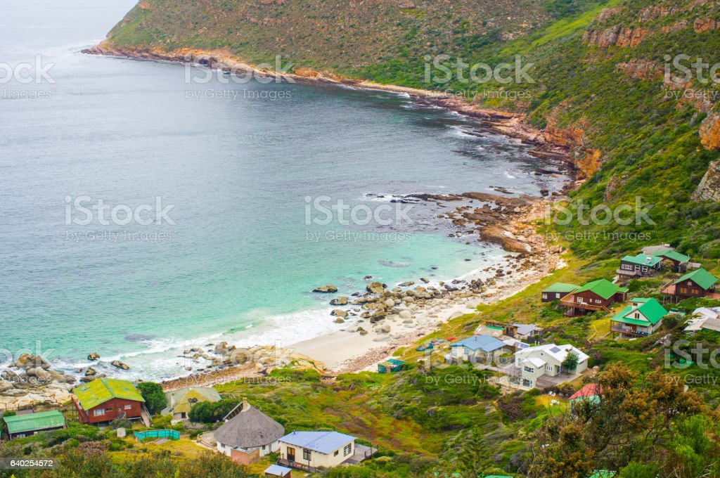 Hout Bay harbour the Cape South Africa stock photo