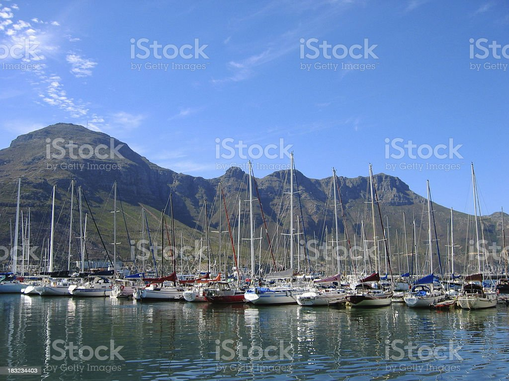 Fishing harbour at Hout Bay South Africa royalty-free stock photo
