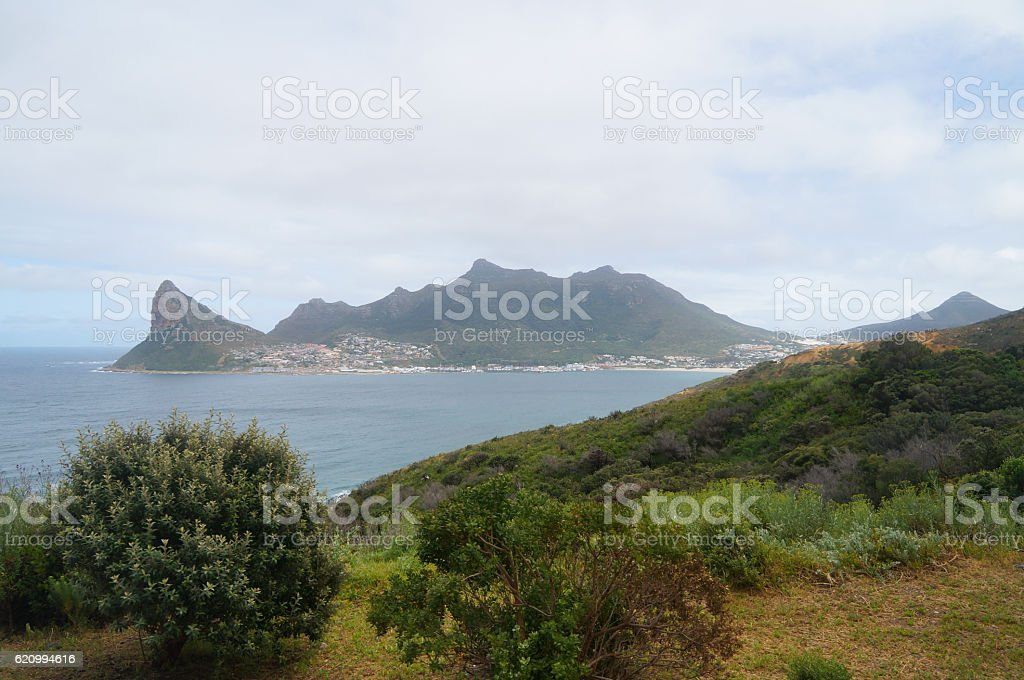 Hout bay view from chapman's peak, south africa stock photo