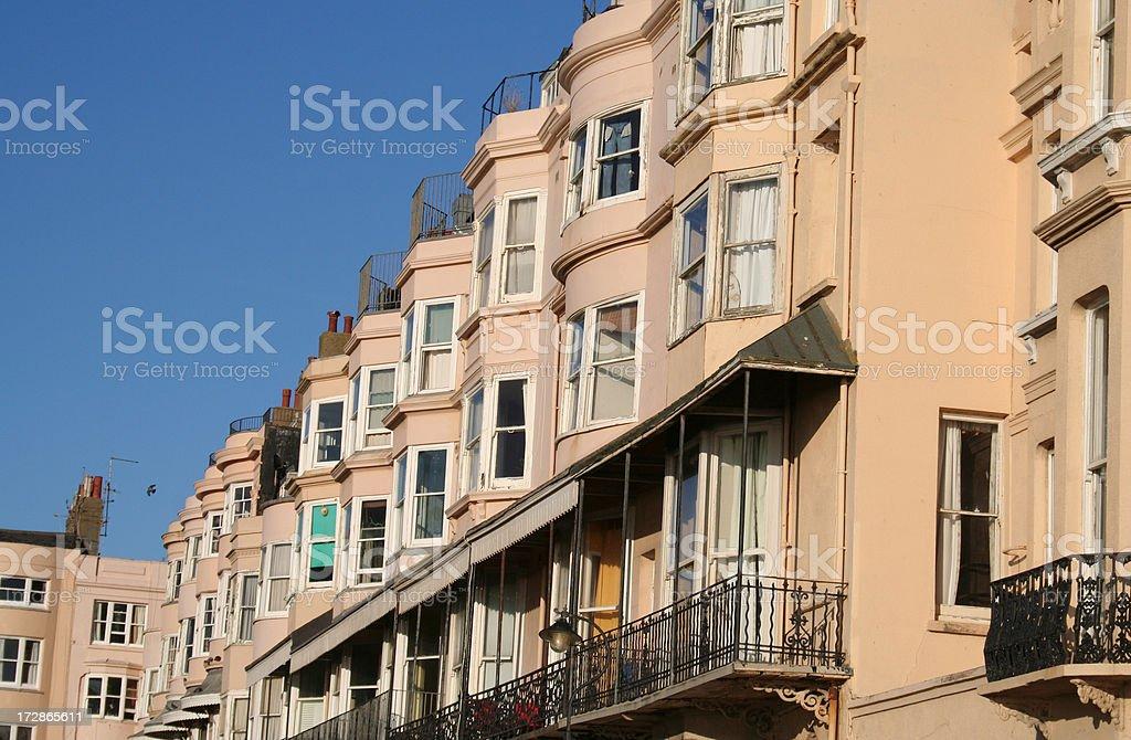 Hove apartments stock photo